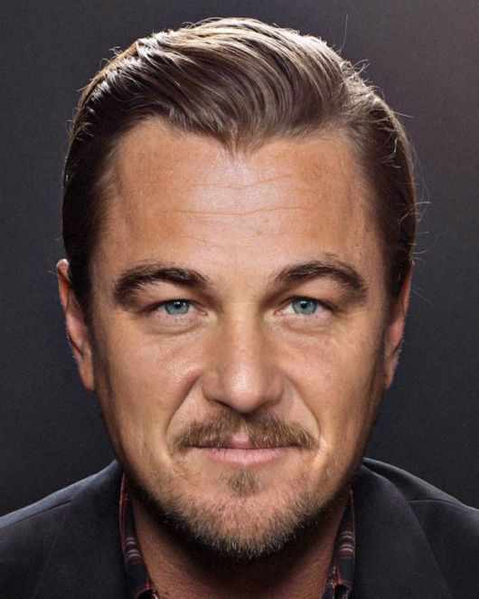 Artistic Combination Of Two Celebrities Together To Create One Famous Face