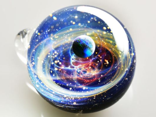 Hidden Inside These Glass Pendants Is Something Out Of This World