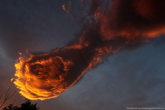 Fireball Cloud Spotted Over Portugal's Madeira Island