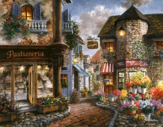 Summer Cafe In Creative Painting