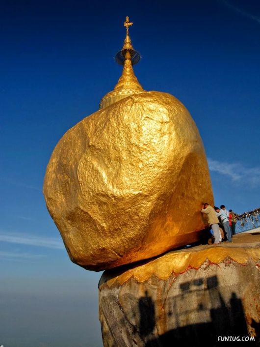 Amazing Golden Rock Mountain in Kyaktio