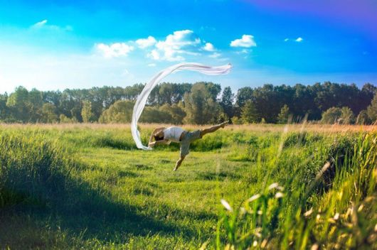 Self-Portraits While Floating In Mid-Air