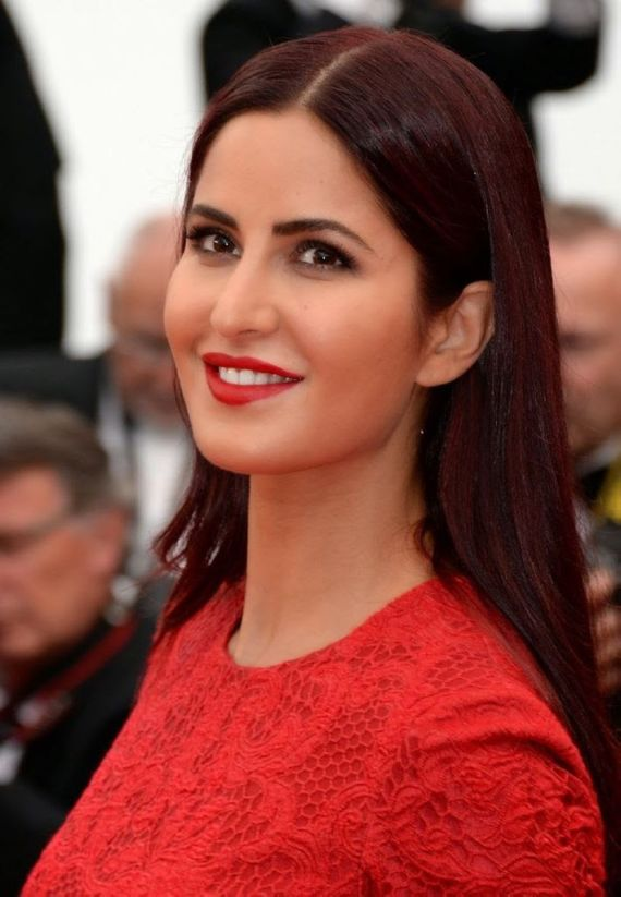 Katrina Kaif In Red Dress At Red Carpet Elie Saab
