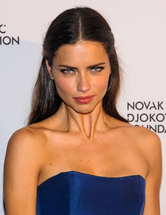 Beautiful Adriana Lima At Novak Djokovic Foundation Event