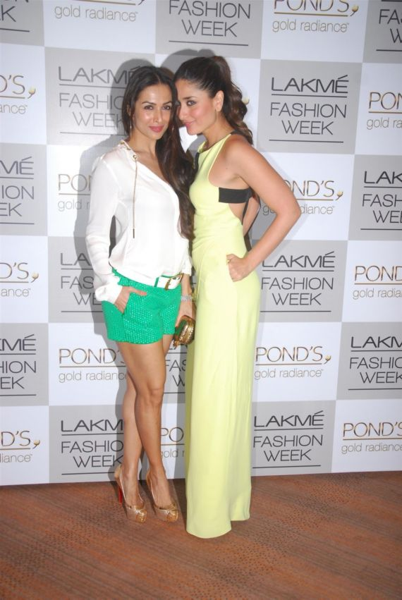 Kareena, Karishma And Malaika At Lakme Fashion Week