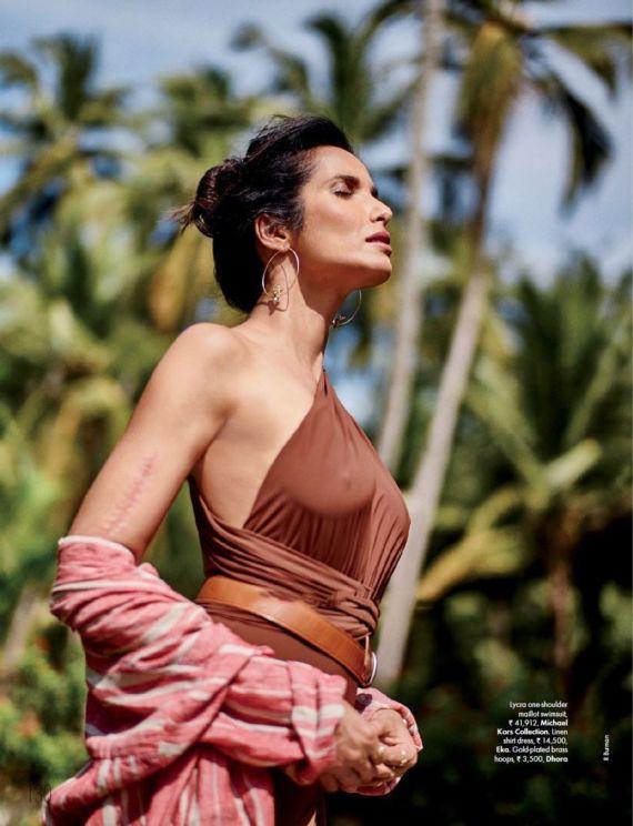 Padma Lakshmi Elle Magazine Photoshoot