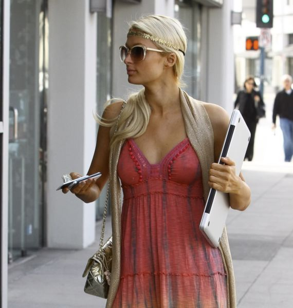 Paris Hilton In A Nice Traditional Dress