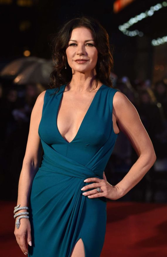 Catherine Zeta Jones At Dads Army Premiere In London